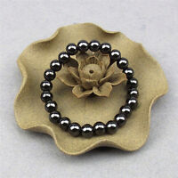 1x poids rond noir bracelet en pierre de soins de santé thérapie magnétique IHS