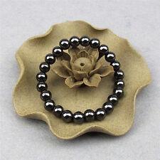 1x poids rond noir bracelet en pierre de soins de santé thérapie magnétique 9H
