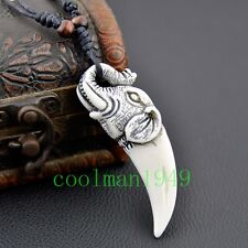 FASHION Man's necklace carving Elephant tooth pendant necklace RH308