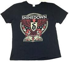 Shinedown World Tour T-Shirt 2-Sided 2016 Cities Concert Rock Band Logo Tee Sz L