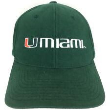 229aa9c4c92d97 Nike Cap University Of Miami Hat U Hurricanes Logo Green NCAA Trucker  Adjustable
