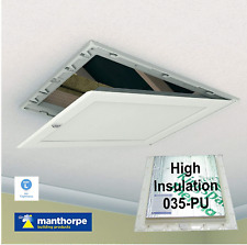 Manthorpe 035-PU High Insulated White Loft Trap Door Hinged Hatch Access