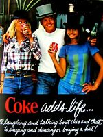 """1977 Coca Cola Coke Adds Life ORIGINAL PRINT Ad-8.5 x 11/"""""""