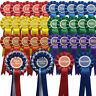 Show Rosettes 10 Sets 1st-3rd Dog/Horse Show Event Schools Award FREE POSTAGE