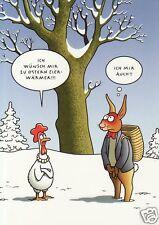 """Postkarte, Osterkarte, """"Ich wünsch mir zu Ostern Eierwärmer"""""""