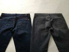 7 for all Mankind Women's Roxanne Skinny Gray & Blue Jeans Size 29 L32 2 Pair