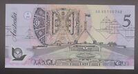 **1992 Australian  Fraser/Cole AA $5 note UNC**