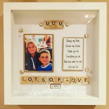 Handmade Personalised Frame Mum Mother Photo Frame Birthday Mothers Day Mam