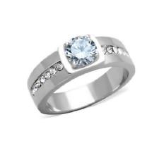 2.03CT Round Cut Aquamarine In 925 Sterling Silver Men's Elegant Wonderful Ring