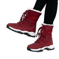 Women's Outdoor Snow Winter Warm Flats Lace Ups Round Toe Ankle Boots 40/41/42 D