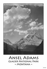 "13""×19"" Photograph Art Poster: GLACIER NATIONAL PARK, Montana. Ansel Adams Print"