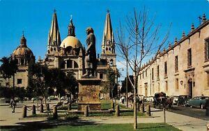 Hidalgo Statue Guadalajara Mexico Liberation Plaza, Cathedral, Library POSTCARD