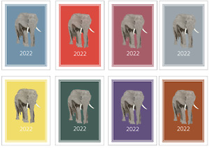 Elephant 2022 A5 Week Per View Diary DOG SHOW NORMAL/DATES/APPOINTMENT