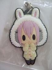 Sonico Rabbit Costume Cardigan D4 Rubber Strap Key Chain Super Sonico empty