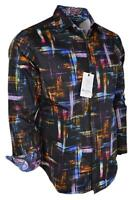 NEW Robert Graham BARRIGONA Brushstroke Plaid Paisley Print Classic Fit Shirt