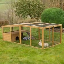 KERBL Freilaufgehege HOLZ Ausbruchsperre Freigehege Kaninchen Nager Nagerstall
