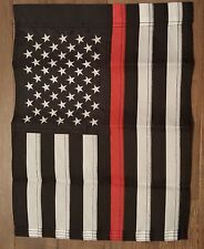 """USA Thin Red Line First Responders Embroidered 12""""x18"""" Garden Flag"""