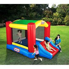 Kids Bounce Room Shade Jump Slide Inflatable Little Tikes Outdoor Activities Fun