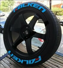"""FALKEN FULLSET BLUE Tire Letters Stickers decal HIGH QUALITY 14"""" to 22""""with glue"""