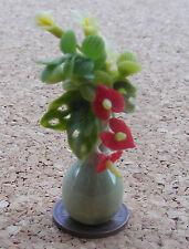 1:12 mixte fleurs en vert en céramique vase doll house miniature fleur accessoire