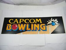 Capcom Bowling Arcade Marquee For Reproduction Header//Backlit Sign