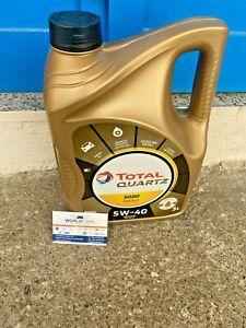 5 LT LITRI OLIO MOTORE TOTAL QUARTZ 5W40 9000 ENERGY ACEA A3 B4 SINTETICO