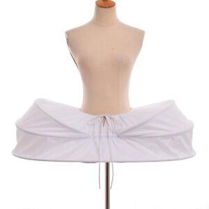 Victorian Dress Rococo Gown White Petticoat Pannier Crinoline Cage Hoop Bustle