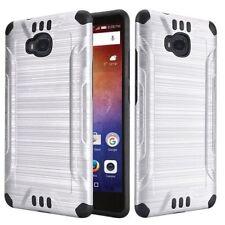 Fundas y carcasas de plástico de color principal plata para teléfonos móviles y PDAs Huawei