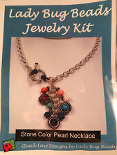 Lady Bug Beads Jewelry Making Kit Stone Color Pearl Necklace Multicolored Chain