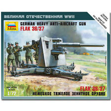 ZVEZDA 6158 German 88mm Flak 36/37 Snap Fit Model Kit 1:72