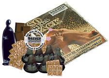 50 Condoms Preservativi Profilattici Sapore Cioccolato Secura Black Power Cho...