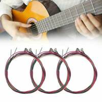 1 Set of 6pcs Colorful Acoustic Guitar Strings 1st-6th String Steel Strings US