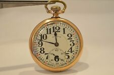 PE8-ANTIQUE  Illinois BUNN SPECIAL 19JEWELS 60HR  4838608 Pocket Watch c. 1926
