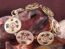 JJ's Shotgun Shell Link Bracelet 12 Gauge Brass Winchester 6 Shot Bullets