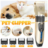 Rechargeable Pet Dog Hair Clipper Electric Trimmer Shaver Grooming Cutter 240V