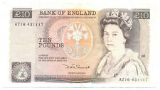 Great Britain UK Kingdom Bank of England 10 Pounds (1984-1986) VF Pick #379c