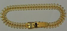 Vintage Faux Gold Bows Metal Waist Chain Belt Mint