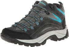 NORTHSIDE WOMENS PIONEER MID LEATHER HIKING BOOT sz 10 GRAY TURQUOISE 314532W966