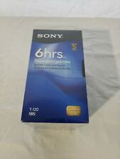 Sony T-120VR 6 Hour Premium Blank VHS Video Cassette Tapes Sealed 5 Pack