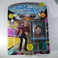 STAR TREK PLAYMATES TOYS COMMANDER WILLIAM T RIKER ACTION FIGURE SEASON 2- 1993