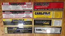 LOT OF 8 CARLISLE EVENTS AUTO SWAP MEET BUMPER STICKERS 2000-2002 2004-2008