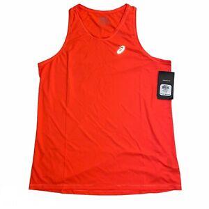 Asics Core Singlet Men's Running Tank Top Neon Orange, MR2571-0694
