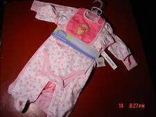 NWT,Disney,Baby,Girl,6 Piece Layette Set,Pooh,Size 3-6 month,Creeper,Hat,Pants