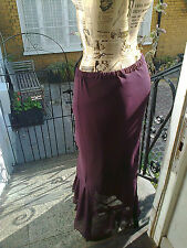 Vintage MONSOON Purple Skirt Size XL ~ waistband elastic needs replacing