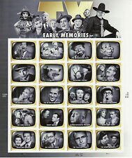 TV EARLY MEMORIES STAMP SHEET -- USA #4414 44 CENT 2009