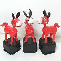 Donkey Thumb puppet figure toy Push up button Dancing Hard plastic Yuzhi Vintage