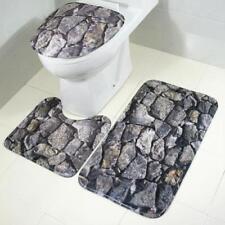 Ocean Bath Mats Underwater World Anti Slip Bathroom Mat Set Coral Fleece Floor