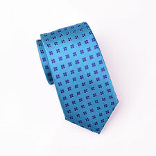 """Purple Pedal Floral Formal Business Dress Tie in Teal 3"""" Fashion Skinny Necktie"""