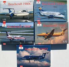 5x Amodel - Beechcraft 1900C + 1900D 1900 - 1:72 - Flugzeug Modellbausatz Kit