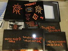 "THE PRODIGY-INVADERS MUST DIE NEW 4 X ORANGE 7"" VINYL 2 X CD+ DVD BOX SET"
